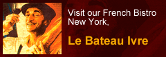 Visit our French Bistro in New York, Le Bateau Irve